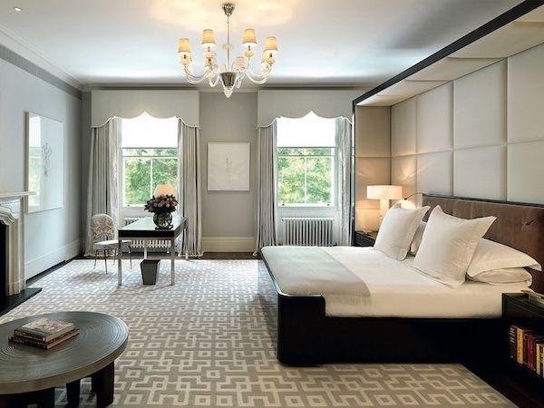 Master-bedroom-painted-in-light-grey-inside-mansion