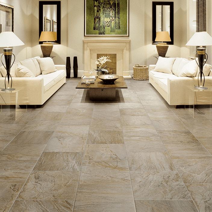 living room tiling